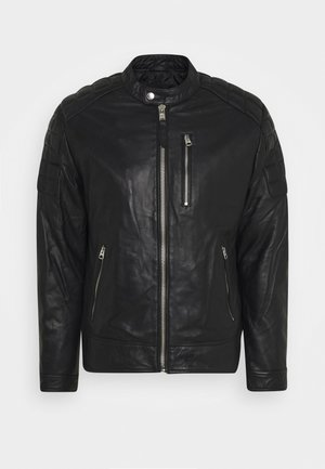 MARTIN - Leather jacket - black