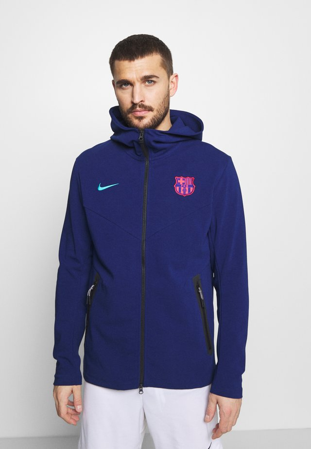 FC BARCELONA HOODIE - Club wear - blue void/oracle aqua