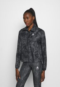 ODLO - JACKET ZEROWEIGHT PRINT - Sports jacket - black - 0