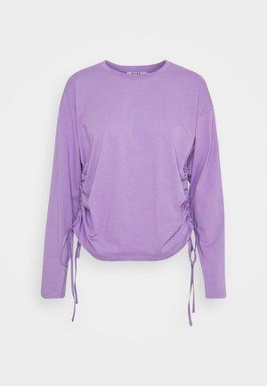 DRAWSTRING DETAILED - Long sleeved top - purple