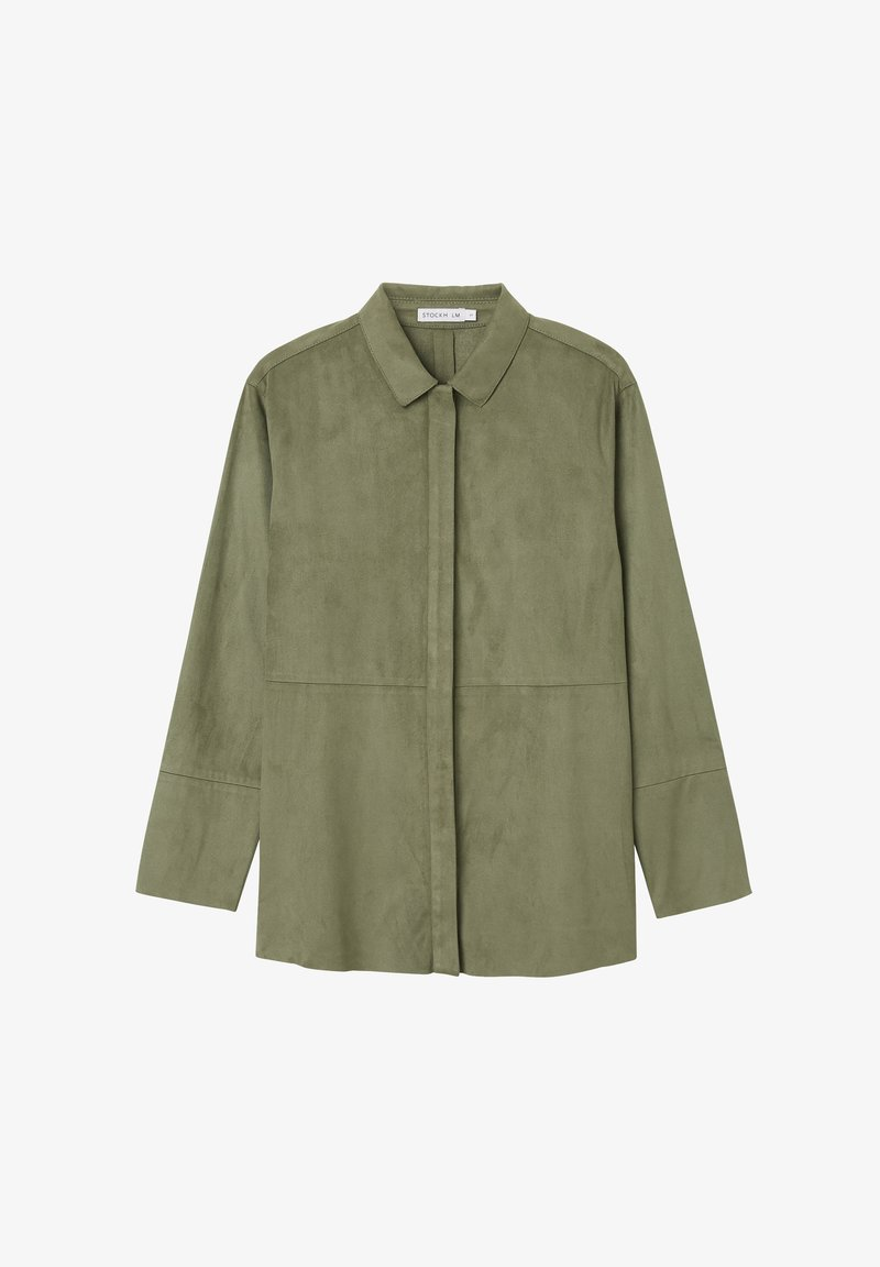STOCKH LM Studio - Button-down blouse - dusty olive