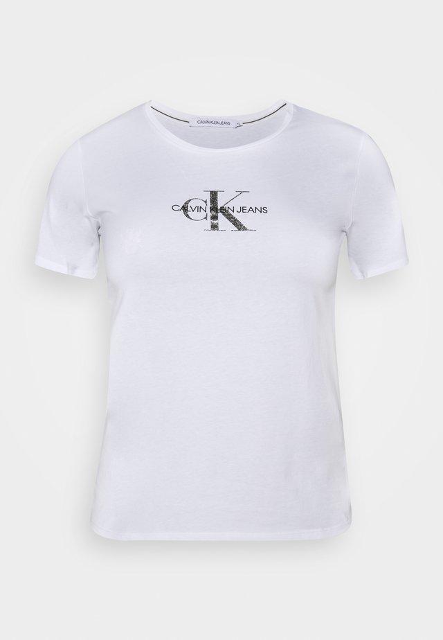 GLITTER MONOGRAM TEE - T-shirt med print - white
