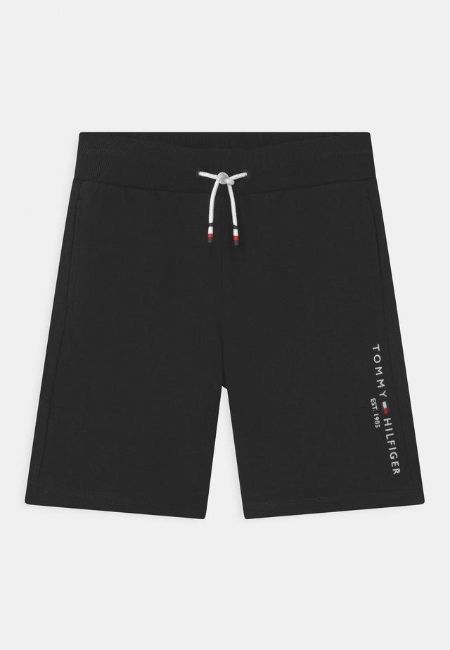 ESSENTIAL - Teplákové kalhoty - black