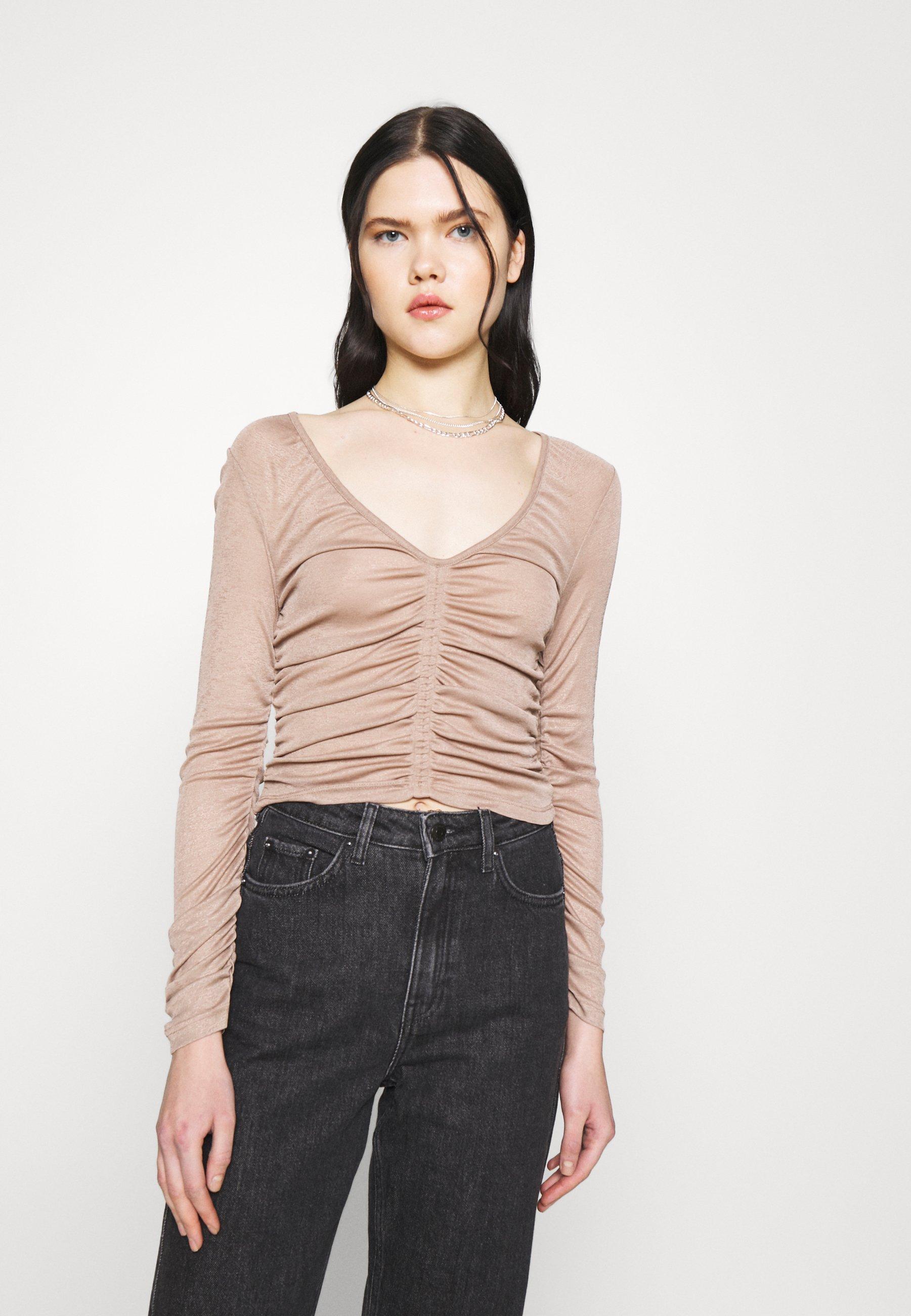 Women RUCH V NECK - Long sleeved top