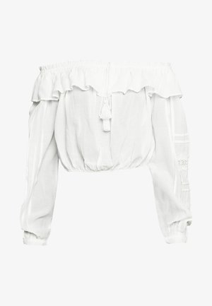 YASAGNETE OFF SHOULDER FEST - Bluser - star white