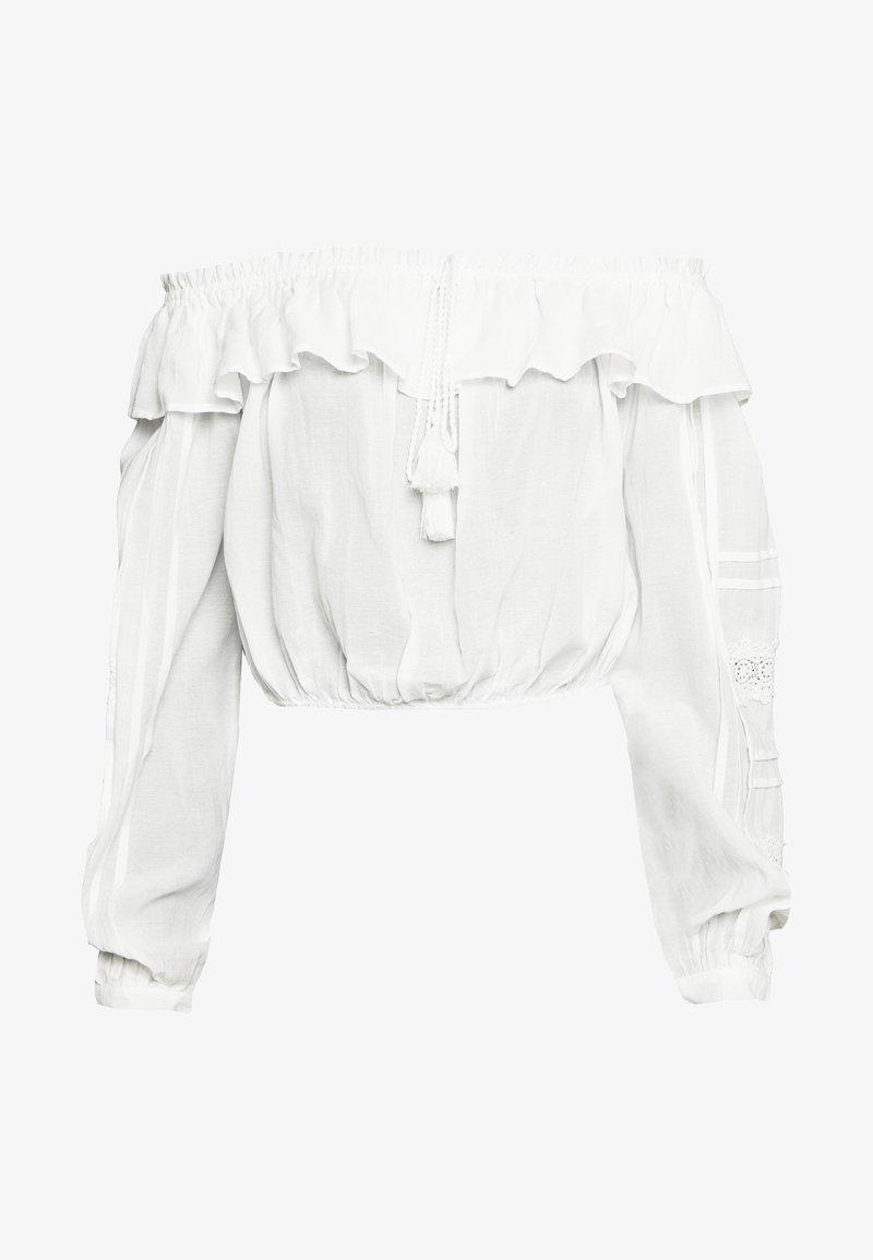 YAS - YASAGNETE OFF SHOULDER FEST - Blouse - star white