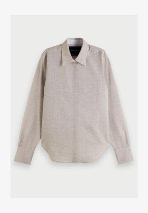 REGULAR FIT  - Button-down blouse - sand melange