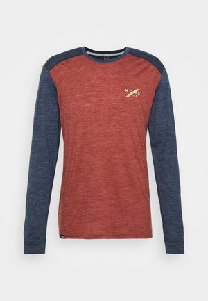 VAPOUR  - Long sleeved top - navy/chocolate