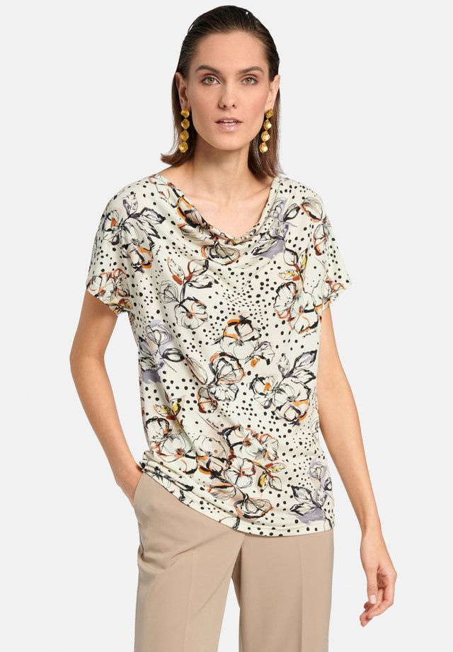 Blouse - offwhite/beige/multicolor
