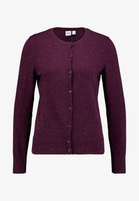 GAP - CREW CARDI - Strikjakke /Cardigans - plum/heather - 4