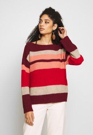 Jumper - multicolor stripes