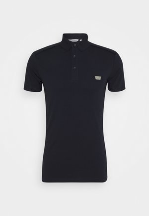 PLATE ON FRONT - Polo shirt - ink blu