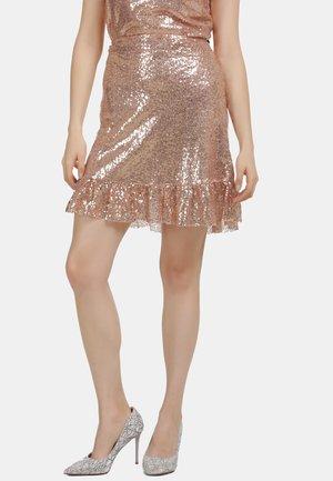 A-lijn rok - rosa gold