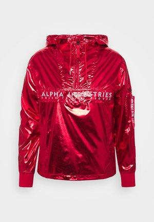 GLOSSY ANORAK - Summer jacket - speed red