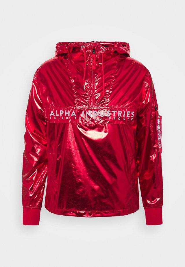 GLOSSY ANORAK - Leichte Jacke - speed red