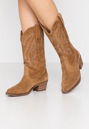 TEO - Cowboy/Biker boots - tan