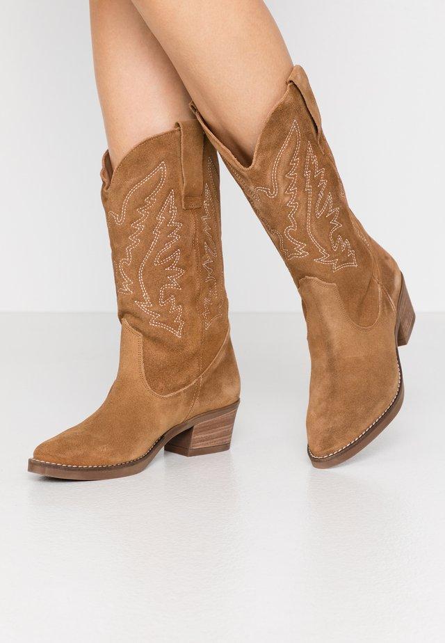 TEO - Cowboy- / Bikerboots - tan