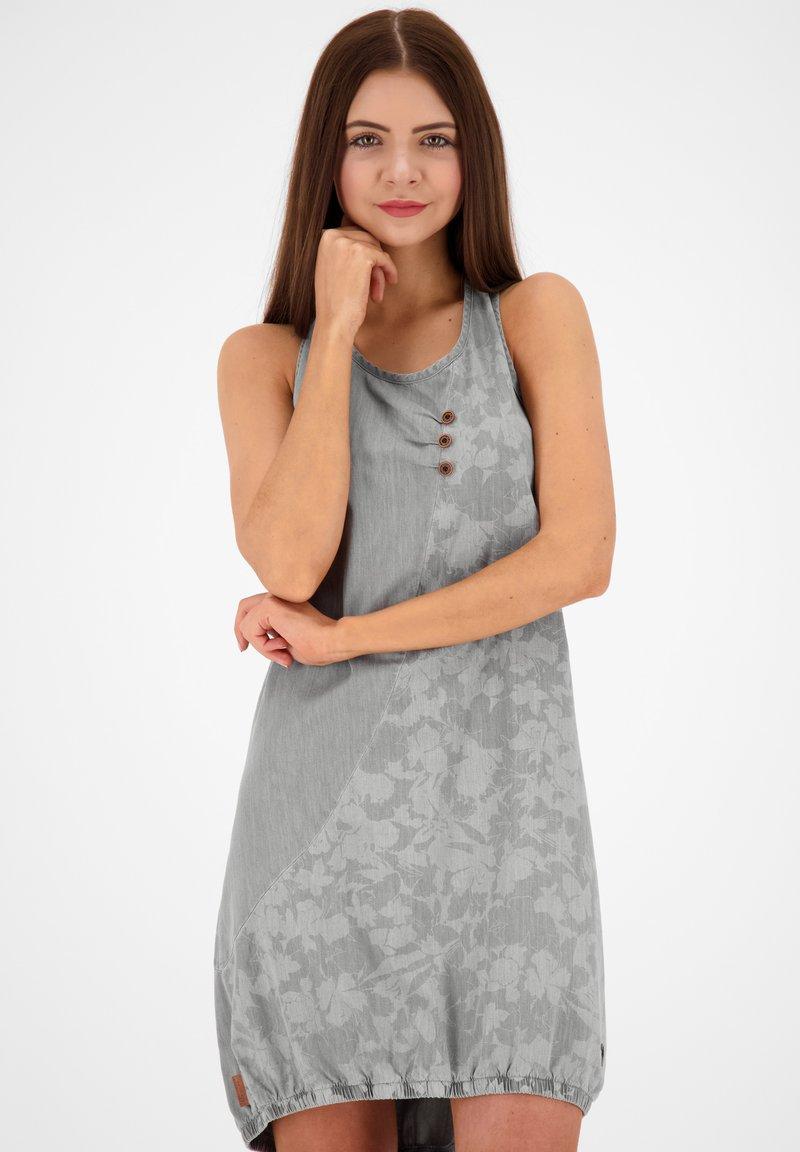 alife & kickin - Denim dress - light grey denim
