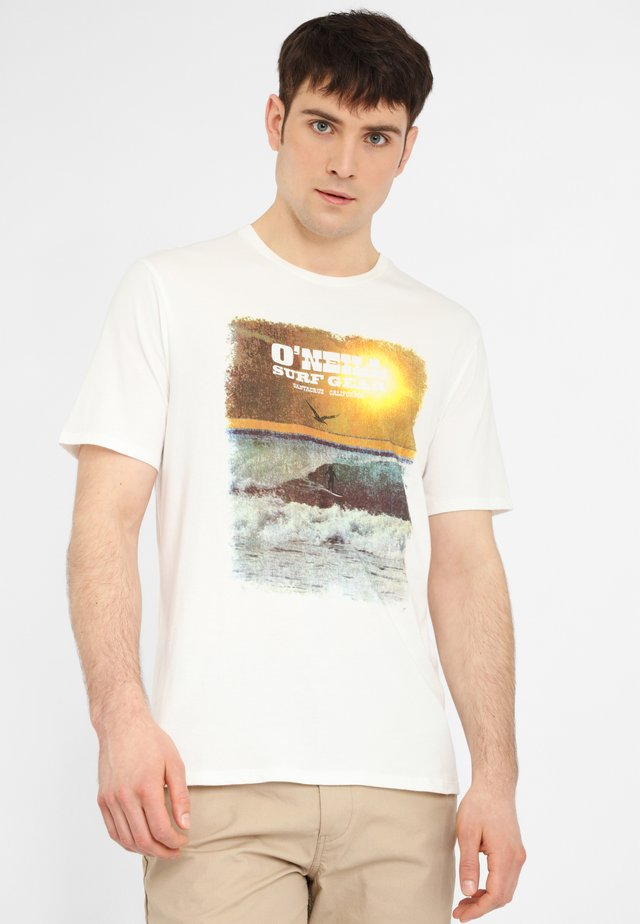 SURF GEAR - Print T-shirt - powder white
