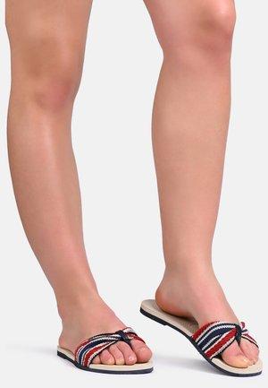 FITA POOL SHOES - Sandalias de dedo - beige