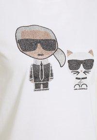KARL LAGERFELD - IKONIK RHINESTONE - Print T-shirt - white - 2