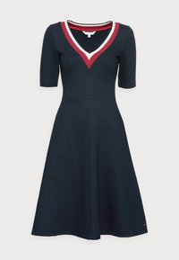 Tommy Hilfiger - PUNTO KNEE DRESS - Day dress - blue - 3