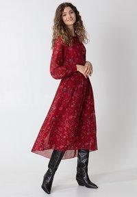 Indiska - Denní šaty - red - 3
