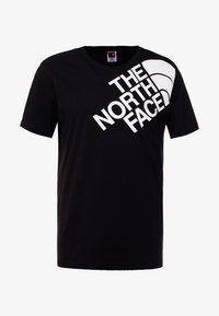 The North Face - SHOULDER LOGO TEE - T-shirt con stampa - black/white - 4