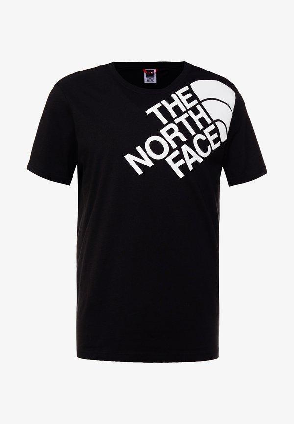 The North Face SHOULDER LOGO TEE - T-shirt z nadrukiem - black/white/czarny Odzież Męska HMJQ