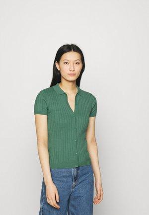 ESVINA POLO - Button-down blouse - frosty spurce