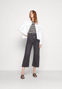 Calvin Klein - SMALL LOGO BOATNECK - Long sleeved top - black/white smoke - 1