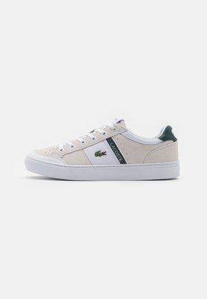 COURTLINE - Trainers - white/dark green