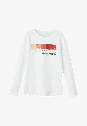 LANGE ÄRMEL - Pitkähihainen paita - bright white
