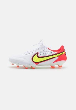 TIEMPO LEGEND 9 PRO FG - Fotbollsskor fasta dobbar - white/volt/bright crimson