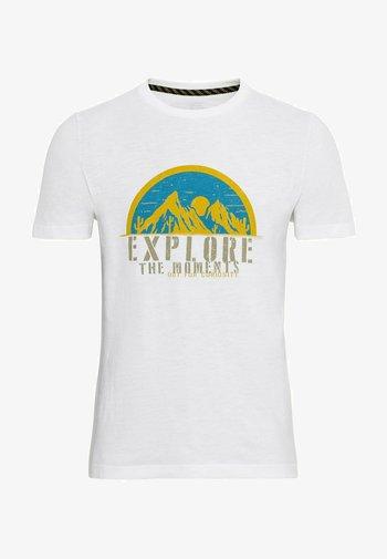 KURZARM  - Print T-shirt - broke white