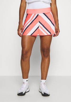 FLOUNCY SKIRT PRINTED - Sportovní sukně - sunblush/white