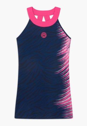 ALENIA TECH - Žerzejové šaty - dark blue/pink