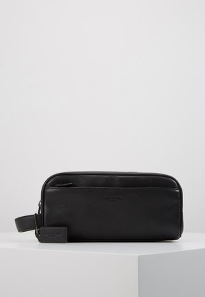 TRAVEL KIT IN PEBBLE LEATHER - Kosmetiktasche - black