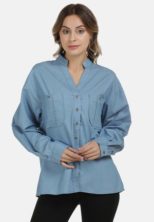 DREIMASTER BLUSE - Button-down blouse - blue