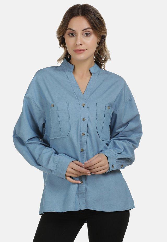 DREIMASTER BLUSE - Camisa - blue