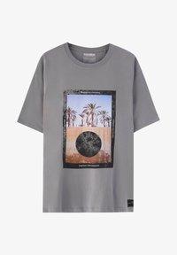 PULL&BEAR - Print T-shirt - dark grey - 4