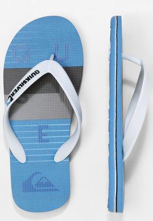 MOLOKAI WORD BLOCK - Pool shoes - white/grey/blue