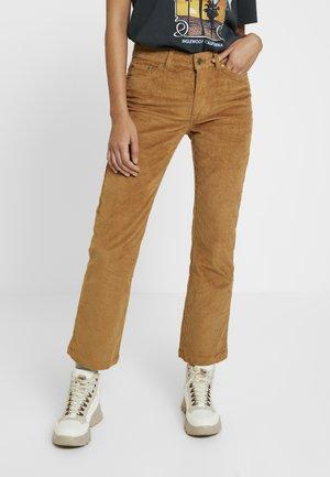 VMSHEILA KICK - Trousers - tobacco brown