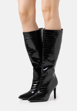 MID STILETOE TUBULAR BOOTS - Vysoká obuv - black