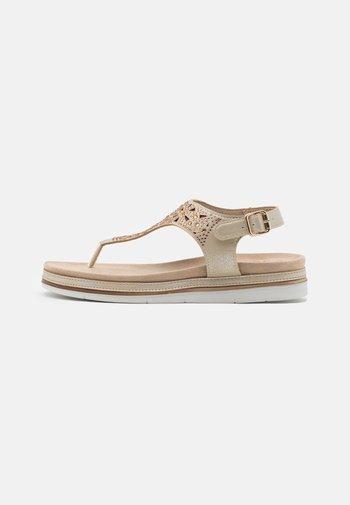 T-bar sandals - pepper/light gold