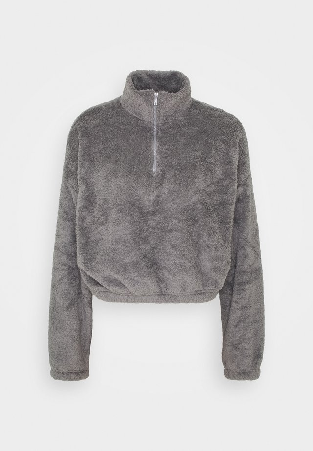 FLUFFY - Fleecepaita - gray