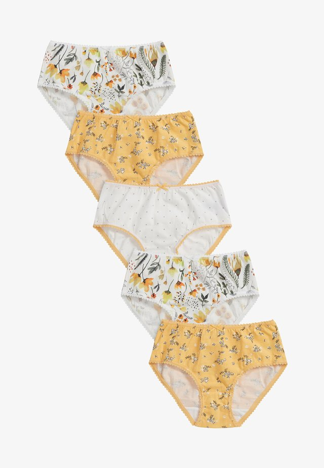 5 PACK  - Briefs - yellow