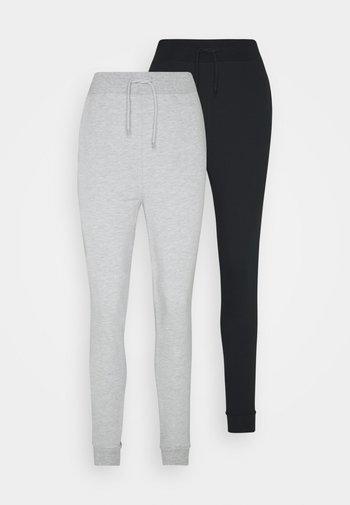 2 PACK - Joggebukse - black/mottled grey