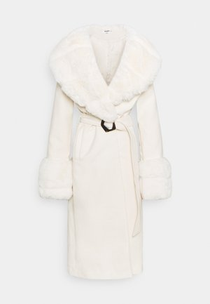 COLLAR CUFF COAT - Classic coat - cream