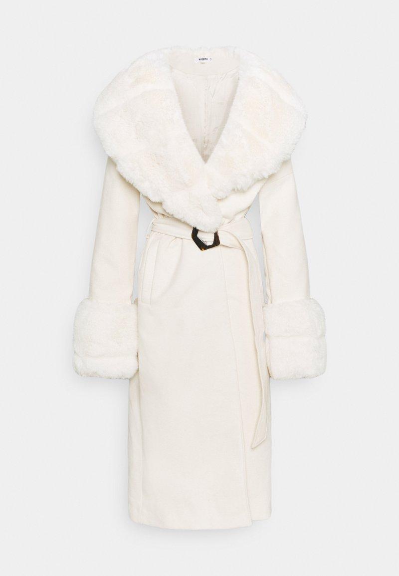 Missguided Tall - COLLAR CUFF COAT - Klasyczny płaszcz - cream